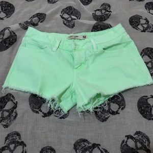 Just USA BLACK LABEL cutoff neon green Shorts Med